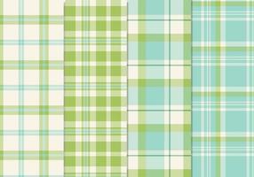 Färsk Blå Grön Seamless Plaid Patterns Vector