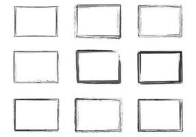 Bläckgränser Vector Set