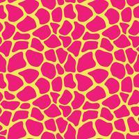 Abstrakter bunter Tierdruck. Nahtloses Vektormuster mit Giraffenstellen. Textil, das Tierpelzhintergrund wiederholt.