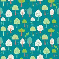Nahtloses Muster aus Streifen und stilisierten Bäumen. Gestaltungselement für festliche Banner, Karte, Einladung, Postkarte. Vektor-illustration vektor