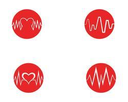 Art design hälso-medicinsk hjärtslagpuls vektor