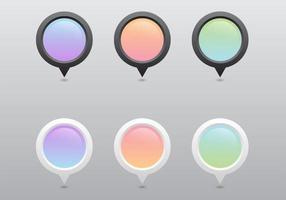 Pastell Zeiger Vektor Set