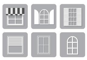 Fönster ikoner vektor uppsättning