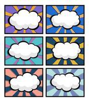 Satz von Comic-Buch, Pop-Art mit leere Sprechblase