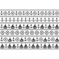 Marine nahtlose Muster. Geeignet für Tapeten, Papier, Dekoration.