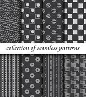 Vektor abstrakte geometrische nahtlose Muster. Design-Sammlung. Dekoration
