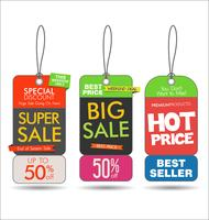 Försäljning taggar färgglada modern samling vektor