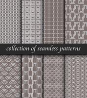 Set med art deco sömlösa mönster. Snygga moderna texturer. abstrakt bakgrund