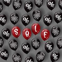Försäljningsmall med luftballonger vektor