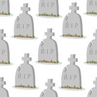 Gamla gravsten med sprickor sömlöst mönster vektor