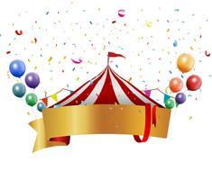 Geburtstagsentwurf mit Ballon und Konfettis