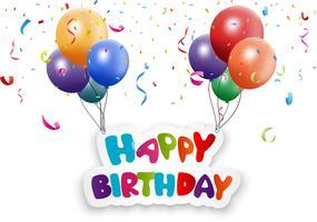 Grattis på födelsedagen hälsning bakgrund