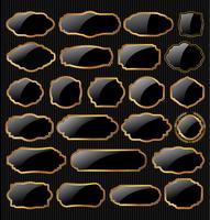 Weinlese gestaltet leere Retro- Ausweise und beschriftet Sammlung