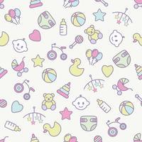 Babyleksaker sömlöst mönster. Kan användas för textilier, papper och annan design.