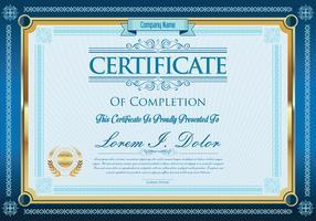 Designschablonen-Vektorillustration des Zertifikats oder des Diploms Retro- vektor