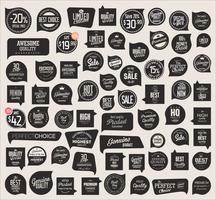 Moderne Abzeichenaufkleber und Aufklebersammlung