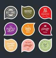 Moderna märken klistermärken och etiketter samling vektor