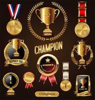 Trofé och utmärkelser märken och etikettsamling