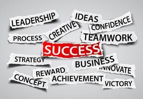 Erfolg auf Geschäftskonzept vektor