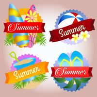 Sammlung Sommer Abzeichen Strand spielen
