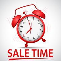 Försäljningsreklam med väckarklocka vektor