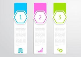 Vertikal Hexagon Banners Vector Set