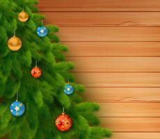 Weihnachtselement mit Mitteilung auf hölzernem Hintergrund vektor