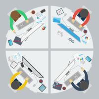 Flaches Design Stil der erfolgreichen Partnerschaft