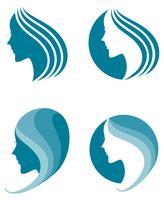 modeikon. symbol för kvinnlig skönhet vektor
