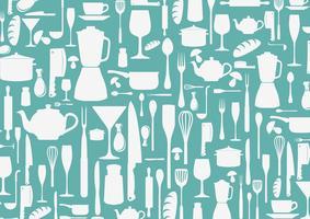 Restaurantmenüdesign mit Platte vektor