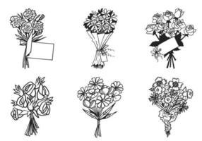 Blomma bukett vektor pack