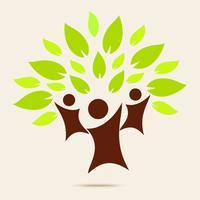 Grön familj. ECO koncept vektor