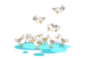 Fåglar i grupp vektor