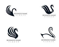 Schwan Logo Vorlage Vektor
