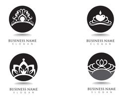 Krone Logo Template-Vektorillustrationen