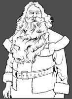 Santa Claus utan hatt