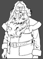 Santa Claus utan hatt vektor