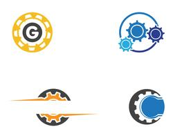 Gang Logo Template-Vektorikonen-Illustrationsdesign