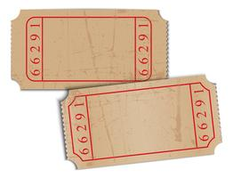 Vintage Blankopapier Tickets vektor