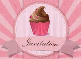 Vintage Cupcake Hintergrund vektor