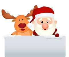 Weihnachtsmann mit Rentier