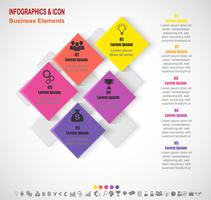 Infographic business tidslinje process och ikoner mall. Affärsidé med 5 alternativ, steg eller processer. Vektor.
