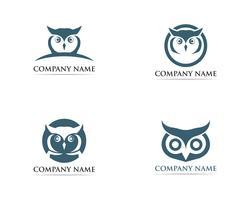 Uggla logo fågel vektor illustratör