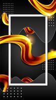flüssiges flüssiges Goldhintergrund-Tapetendesign vektor
