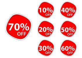 Rabattprisetiketter .square klistermärke