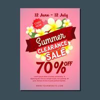 försäljning affisch mall sommar vektor