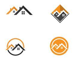 Hausbau-Logoikonenschablone vektor
