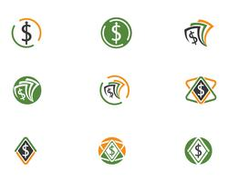 Geld Logo Vektor Vorlage