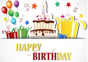 Alles Gute zum Geburtstag Kartendesign