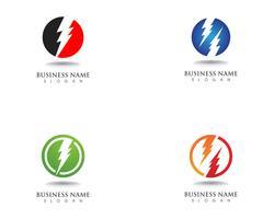 Blitz Blitz Strom Vektor-Logo-Design vektor